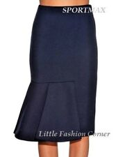 ❄NEW#  SPORTMAX by MAX MARA Chantal Stretch Blue Jersey Skirt size M