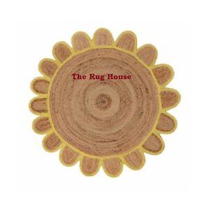 Rug 100% Natural Jute Braided Reversible Handmade Carpet Modern Living  Area Rug