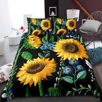 3D Art Watercolor Sunflower Bedding Set Duvet Cover Comforter Cover PillowCase