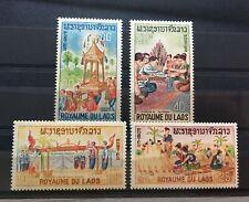 (767) LAOS 1966 : CEREMONIAL SCENES BUDDHISM - MNH** VF