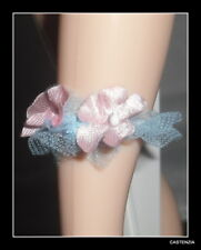 ACCESSORY MATTEL BARBIE DOLL VINTAGE REPRODUCTION WEDDING DAY BLUE GARTER