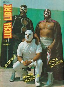 "Lucha Libre #1148 Wrestling 1986 ""Aguila Solitaria"" Fair Condition Spanish"