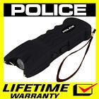 POLICE Stun Gun Black 916 650 BV Heavy Duty Rechargeable LED Flashlight  <br/> 650 Billion Stun Gun + FREE Case + Lifetime Warranty