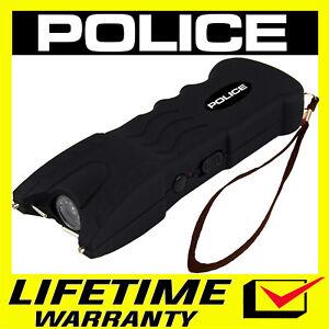POLICE Stun Gun Black 916 650 BV Heavy Duty Rechargeable LED Flashlight