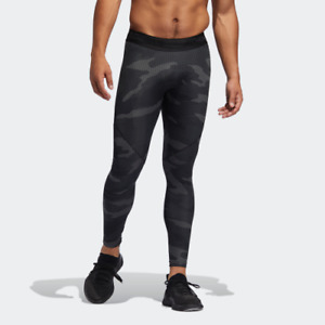 adidas AlphaSkin Camouflage Mens Training Tights DZ7339 Workout Compression 2XL