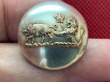 Boar Passant/Demi-Lion w Crown Dual Crest 25mm Livery Button Jw Reynolds 1861-75