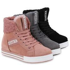 Damen Sneaker High Warm Gefütterte Turnschuhe Winter Prints 824359 Schuhe