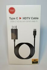 6ft Type-C to HDMI USB-C HDTV Adapter Cable 4K 30Hz For Samsung S10 S9 Macbook