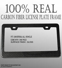 JDM Style 1 pc Black Carbon FIBER LICENSE PLATE FRAME TAG COVER ORIGINAL 3K C269