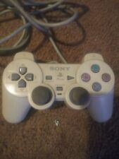 SONY PlayStation PS1 & PS2 Wired Controller Analog SCPH-110 White OEM Original