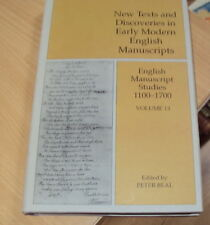 2007- ENGLISH MANUSCRIPT STUDIES 1100 - 1700 - 1st EDITION HB DJ