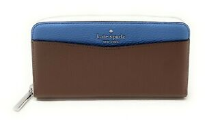 Kate Spade Cameron Staci Large Continental Leather Zip Around Wallet