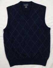 Brooks Brothers Womens Navy Blue Argyle Sweater Vest Sz Medium B5