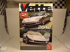 AMT 2012 CHEVROLET CORVETTE TWO (2) 1:25 SCALE PLASTIC MODEL CAR KITS