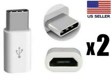 2pcs USB C 3.1 Type-C Male to Micro USB Female Mini Connector Adapter