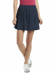 G/Fore Polka Dot Pleated Skort M L XL Twilight $155 NWT GFore Womens Golf Skirt