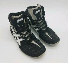 Asics Split Second ~ Sz 8 Wrestling Shoes ~ Mens Black White Silver J203Y