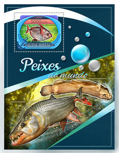 Guinea-Bissau 2016 MNH Fishes of the World 1v S/S Marine Fish Stamps