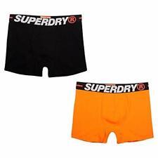 Superdry Boxer 2 Pack Man Underwear Black/Orange