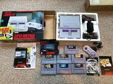 Super Nintendo SNES console and 7 game bundle lot Turtles IV, Donkey Kong, Zelda