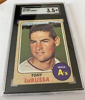 1968 TOPPS #571 TONY LaRUSSA HOF SGC 3.5 FRESHLY GRADED