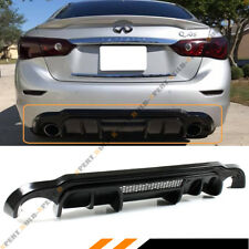 FOR 2014-17 INFINITI Q50 JDM LH STYLE REAR BUMPER ADD-ON DIFFUSER W/ VENT DESIGN