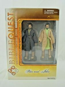 Bible Quest - Peter and John Action Figures - New (Religious/Christian)