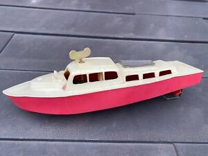Penguin Clockwork Boat - Vintage Original Plastic Model Boat