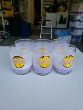 Set of 8 Vintage Los Angeles Lakers Tumbler Old Fashioned Frosted Glasses Mobile