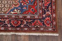 New Geometric Wide Runner Koliaei Hamedan Area Rug Hand-Knotted Wool Carpet 5x10