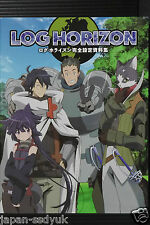 JAPAN Log Horizon Art book: Kanzen Setteishiryoushuu