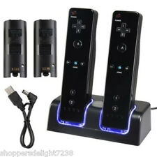 Dual Charging Stand with 2*2800mAh Battery for Wii Remote Controller* Black *