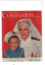 MAR 1944 WOMAN'S HOME COMPANION RED CROSS NURSE & JUNIOR NURSE AD PRINT F450