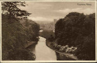 Yorkshire England 1930 gelaufen nach Bad Kreuznach Fountains Abbey Kloster Abtei