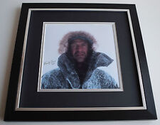 Ranulph Fiennes SIGNED Framed LARGE Square Photo Autograph display AFTAL COA