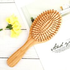 Organic Bamboo Wooden Hair Brush Massage Comb Scalp Air Cushion Antistatic~
