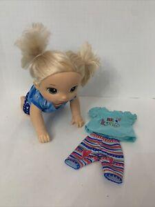 Hasbro Baby Alive 2016 Baby Go Bye Bye Interactive Crawling Doll BLONDE