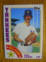 1984 TOPPS CARDS # 110 & 406 RON GUIDRY & RON GUIDRY ALL STAR