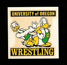 >orig. 1960's-70's University of Oregon Ducks VINTAGE DECAL for WRESTLING TEAM