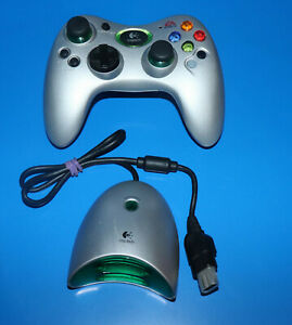 Logitech Original XBOX Wireless CONTROLLER EA Sports Edition Silver w/ Receiver