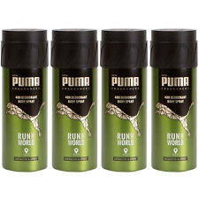 Puma 48H Deo Spray Body Spray RUN THE WORLD 4 x 150 ml