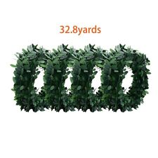 4x Artificial Ivy Garland Foliage Green Leaves Fake Vine Headband Wedding Party