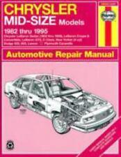 Haynes Repair Manual: Chrysler Mid-Size, 1982 Thru 1993 No. 1337 by John Haynes