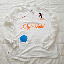 e4560fc50d36 BNWT Nike x Off White Extra Small Home Football Shirt XS White Orange  AA3300-100