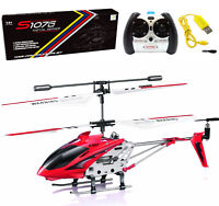 Syma S107G Mini RC Helicopter 3CH 3.5CH Metal Remote Control Helicopter GYRO Red
