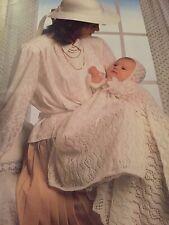 Christening, Baptism Dress, Bonnet & Shawl Knitting Pattern