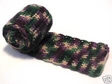 Homemade Crochet Scarf Vineyard Look Purple Green White