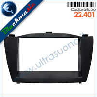 Kit mascherina montaggio autoradio 2DIN Hyundai iX35 (dal 2009) Nero opaco