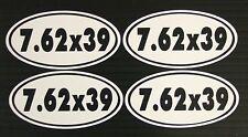 7.62 x 39 Ammo Can Gun Decal Sticker - 4 Pack