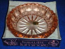 ancien CENDRIER rosaline LUMINARC old ASHTRAY verrerie d'Arques FRANCE vintage